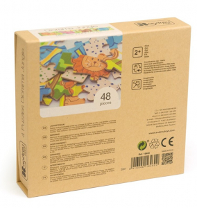 Jungla - 4 puzzle-uri tip diorama, lemn [9]