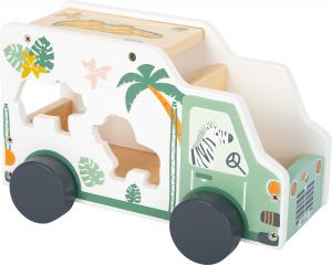 Camion de transport si potrivire forme Safari in culori pastelate2