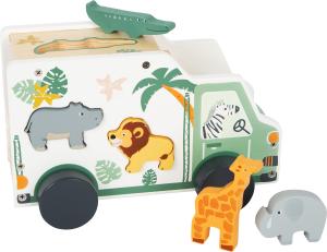 Camion de transport si potrivire forme Safari in culori pastelate0