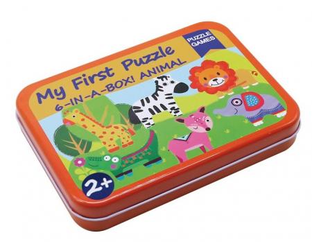 Cutiuta cu 6 puzzle-uri Animale Salbatice [2]