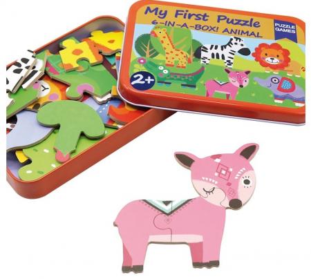 Cutiuta cu 6 puzzle-uri Animale Salbatice [1]