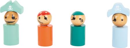 Nu te supara frate cu Pirati, joc din lemn in culori pastel [3]