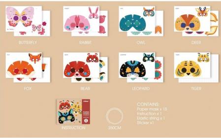 Set creatie Masti din Hartie 3D cu animale [2]