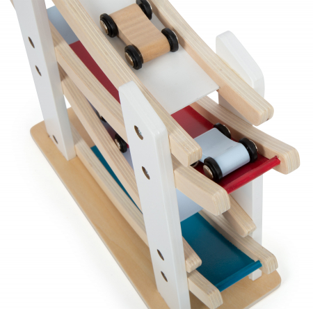 Pista din lemn cu 4 masinute [6]