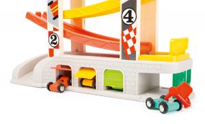 Cursa de masini cu 2 parcari si pista lata multicolora5