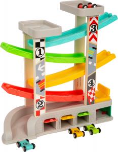 Cursa de masini cu 2 parcari si pista lata multicolora4
