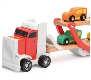 Platforma trailer cu 4 masinute din lemn2