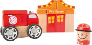 Pompierii - set de construit din lemn cu 19 piese0