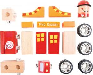Pompierii - set de construit din lemn cu 19 piese1