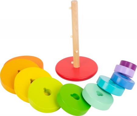 Potriveste Formele, joc din lemn curcubeu varianta XL [2]