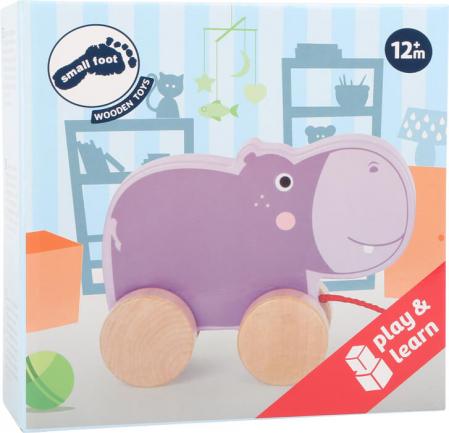 Jucarie de tras din lemn Hipopotamul mov [1]