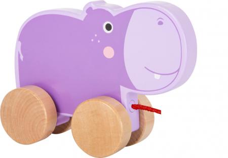 Jucarie de tras din lemn Hipopotamul mov [0]