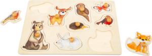 """Puzzle"""" Animalele Padurii"""" din lemn [1]"""