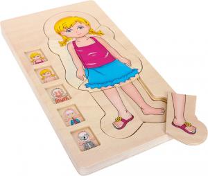 Puzzle din lemn corpul uman Sara [1]