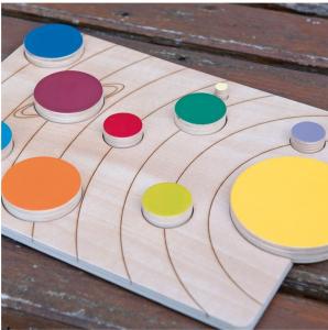 Sistemul solar, puzzle educativ din lemn [1]