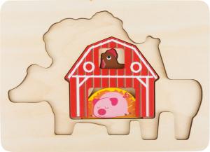 "Puzzle suprapus  ""Animale de la Ferma""1"
