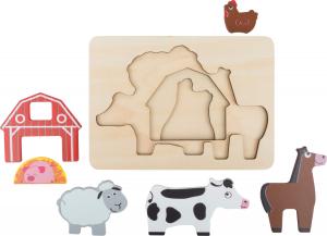 "Puzzle suprapus  ""Animale de la Ferma""4"