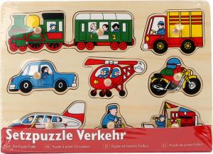 Puzzle Mijloace de transport, 9 piese cu butoane1