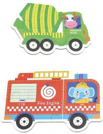 Set de 6 Puzzle-uri Vehicule [2]