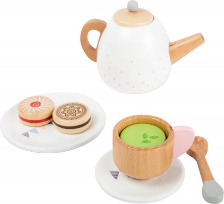 Set cadou pentru ceai si cafea cu accesorii, din lemn [3]