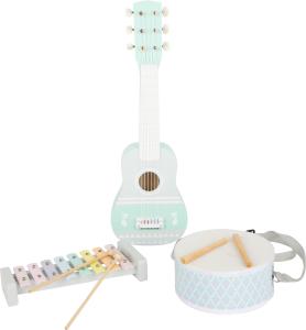 Set cadou instrumente muzicale in culori pastelate1