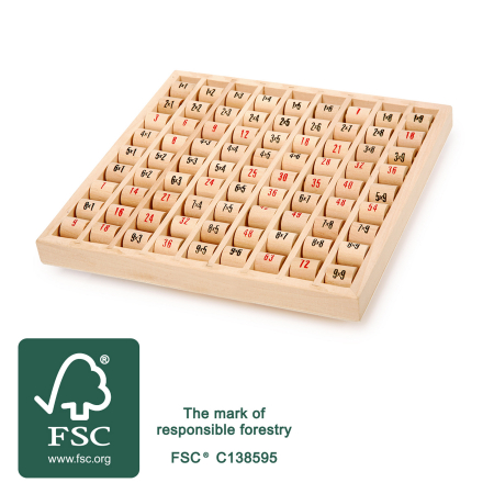 Tabla inmultirii din lemn, format mare [3]