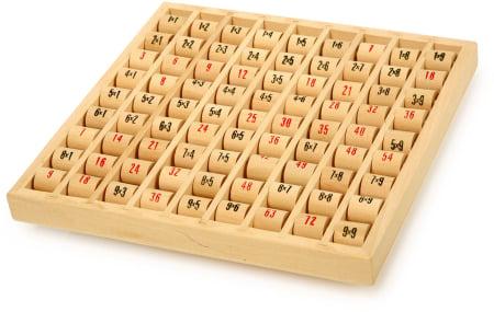 Tabla inmultirii din lemn, format mare0
