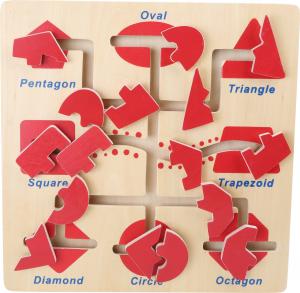 Puzzle educativ Recunoaste si Potriveste formele0