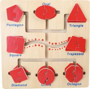 Puzzle educativ Recunoaste si Potriveste formele1