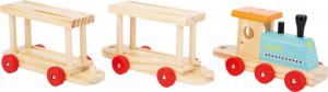 Trenul cu 8 masinute din lemn3