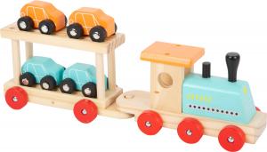 Trenul cu 8 masinute din lemn6