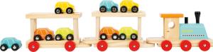 Trenul cu 8 masinute din lemn1