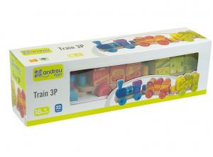 Trenulet multicolor din lemn2