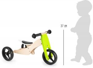2 in 1 Tricicleta si Bicicleta din lemn2