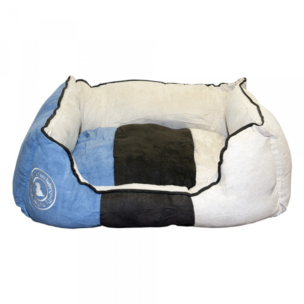 Pat caine patrat My dear baby XL albastru / maro, 70 x 60 cm