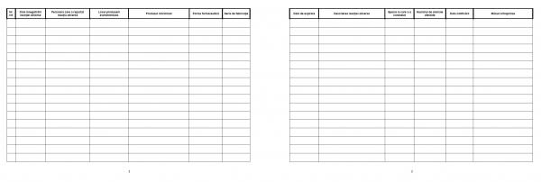 Registru reactii adverse / farmacovigilenta [1]