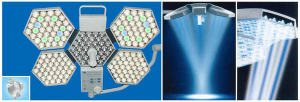 Lampă chirurgicală scialitică cu sistem fără umbră SY02-LED5+5 1