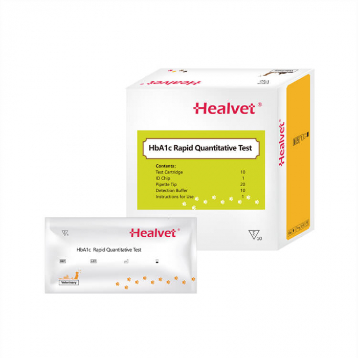 Test rapid HbA1C pentru analizor imunofluorescență veterinară Healvet [0]