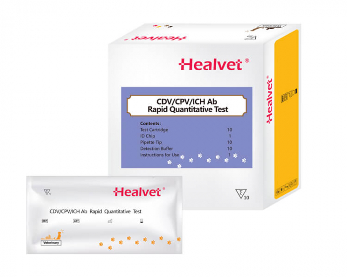 Test rapid Q CDV/CPV/ICH-AB pentru analizor imunofluorescență veterinară Healvet [0]