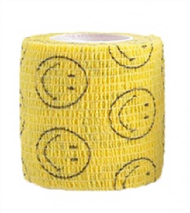Bandaj elastic autoadeziv galben cu imprimeu - 5 cm [0]