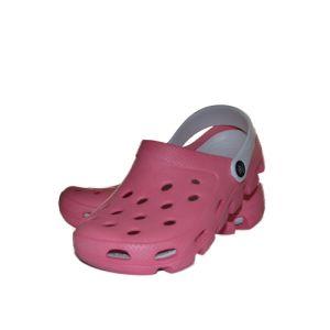 Papuci medicali culoare roz/alb
