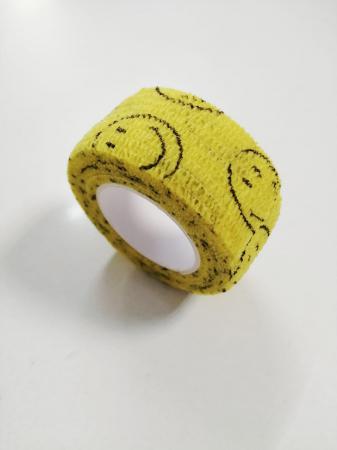 Bandaj elastic autoadeziv galben cu imprimeu - 2,5 cm [0]