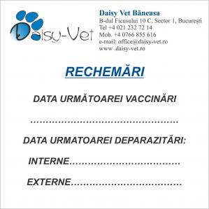 Cub hartie rechemari vaccinare, 97 x 97 mm0