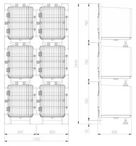 ANSAMBLU MODULAR PENTRU INTERNARI DIN FIBRA DE STICLA MARE KA-51011