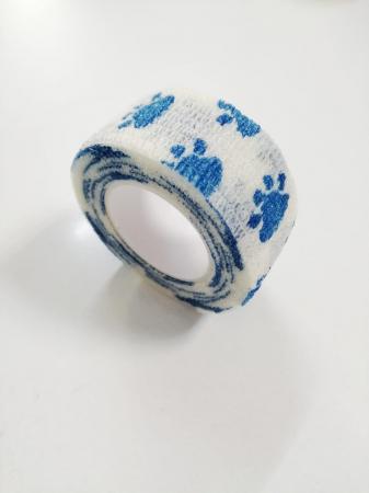 Bandaj elastic autoadeziv alb cu imprimeu - 2,5 cm [0]