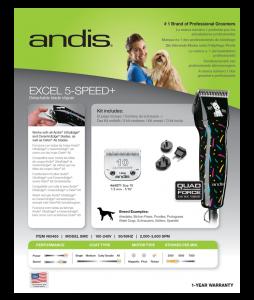 Masina de tuns profesionala, Andis Excel 5-Speed+, 654854