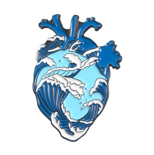 Blue Wavy Heart [0]