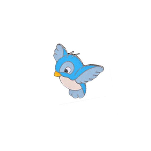 Insigna Blue Bird Facing Left with Antennas [0]
