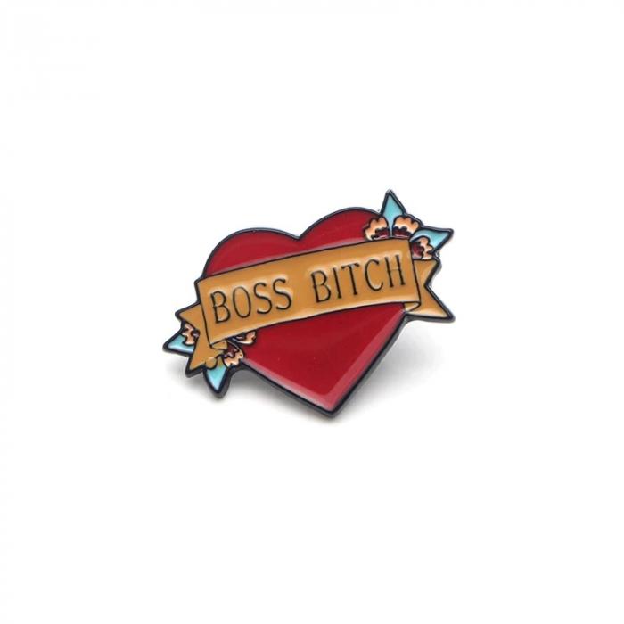 Insigna Boss Bitch Heart [0]