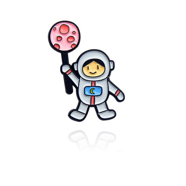 Astronaut Holding A Moon Popsicle [0]